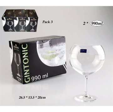 Gin Set 2 Glas 990ml