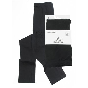 Lang Leggings Sort 116cm