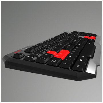 Gaming-tastatur Tacens MAK0 USB Sort Rød