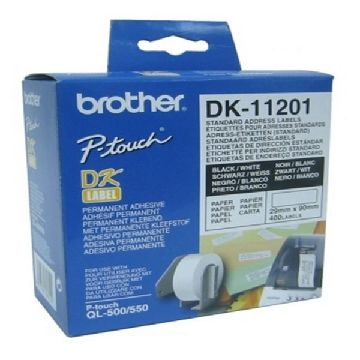 Printer labels Brother DK11201 29 x 90 mm Hvid