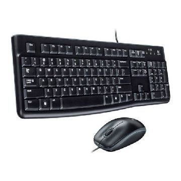Tastatur og optisk mus Logitech MK120 USB Sort