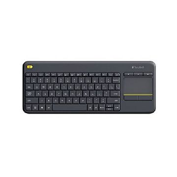 Tastatur med touchpad Logitech K400 Plus Sort