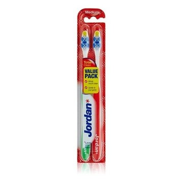 Escova de Dentes Total Clean Medium Jordan (2 uds)