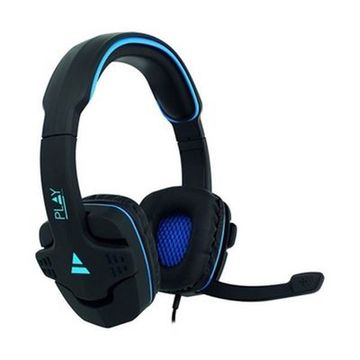 Gaming headset med mikrofon Ewent PL3320 Sort Blå