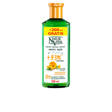 Fugtgivende shampoo Happy Hair Naturaleza y Vida (500 ml)
