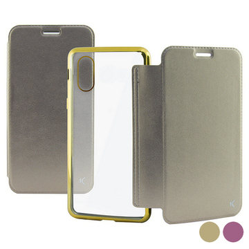 Folio Mobile Phone Case Iphone X/xs Guld