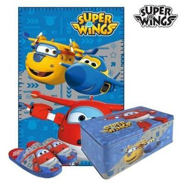 Metalæsken med Tæppe og Sutsko Super Wings 70793 (3 pcs) 3 pcs