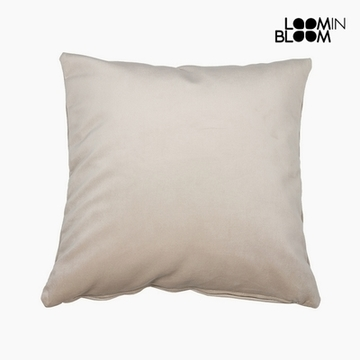 Pude Polyester Beige (45 x 45 x 10 cm) by Loom In Bloom
