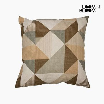 Pude Bomuld og polyester Beige (45 x 45 x 10 cm) by Loom In Bloom