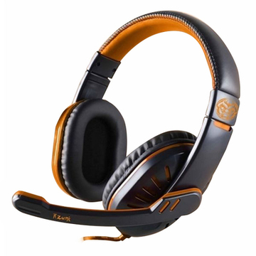 Gaming headset med mikrofon iggual ONAJI Sort Orange