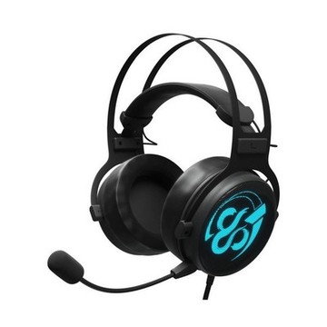 Gaming headset med mikrofon Newskill Kimera V2 LED RGB 15 mW Sort
