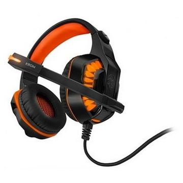Gaming headset med mikrofon KROM NXKROMKNR Konor Ultimate | Orange/Sort