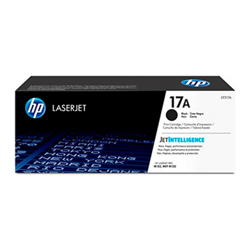 Original toner HP CF217A Sort