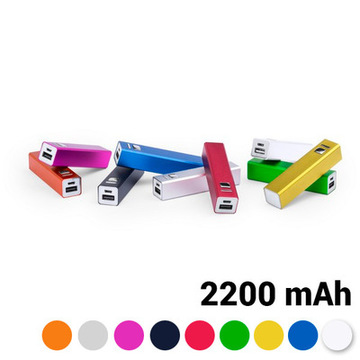 Batteri 2200 mAh USB 144743 Sort