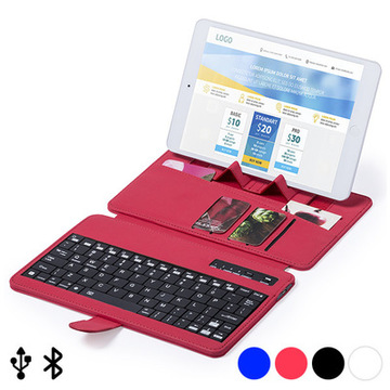 Bluetooth Keyboard med holder til Mobil enhed 145739