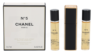 Chanel No 5 Giftset 21ml EDP 1 Purse Spray/3 Refills 3x7ml