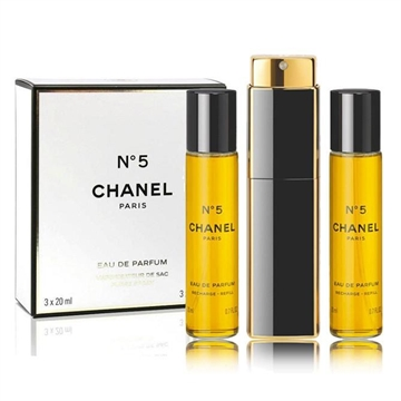 Chanel No 5 Giftset 60ml 2x EDP Spray Refill 20Ml/1x EDP Spray 20Ml - Twist and Spray