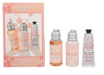 L' Occitane Cherry Blossom Set 180ml Body Milk 75ml/Hand Cream 30ml/Body and Shower Gel 75ml