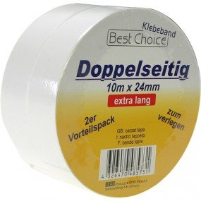 Tape Dobbeltklæbende 10 M X 24 Mm