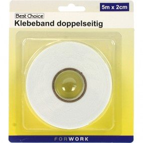 Tape Dobbeltklæbende 5 M X 20 Mm