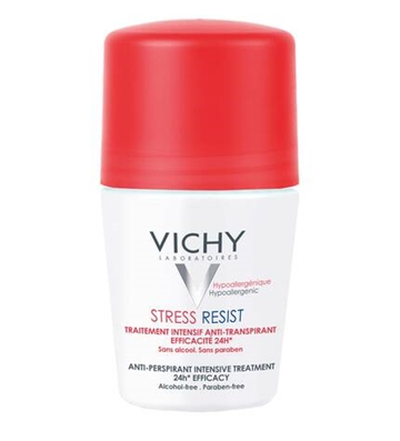 Vichy Stress Resist 72Hr Anti Perspirant Treatment 50ml Sensitive Skin - Alcohol Free