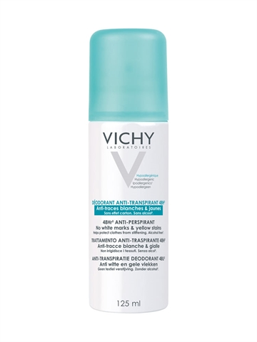 Vichy 48H Antitranspirant Antitraces Deo Spray 125ml Alcohol Free  Paraben Free