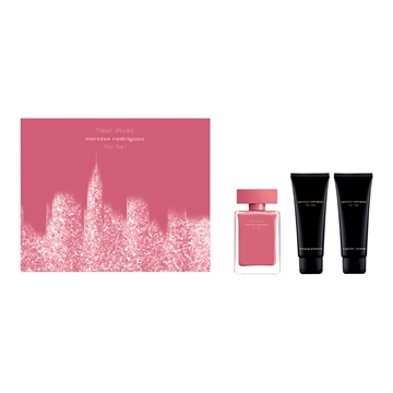 Narciso Rodriguez Fleur Musc For Her Giftset EDP 50ml + Bodylotion 75ml + Shower gel 75ml