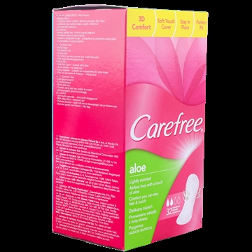 Carefree Sanitary Towels 32 U Aloe Vera