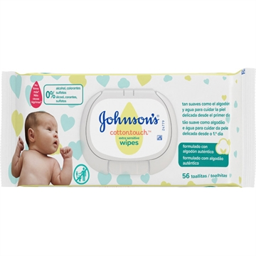Johnson'S Baby Wipes 56 U Extra Sensitive With Cover