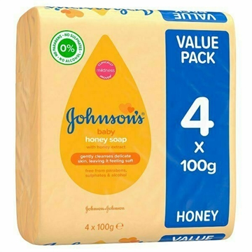 JOHNSON'S BABY SOAP HONEY PACK 4X100G