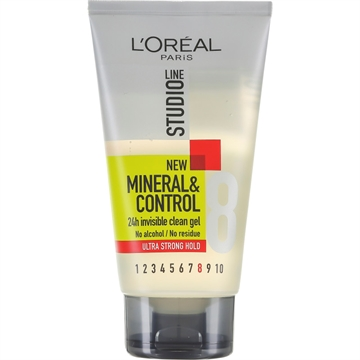 L'Oreal  Studioline Hair Gel Mineral Control Ultra Strong Hold 150ml