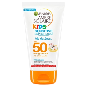 Ambre  Solaire  Kids  Wet  Skin  Lotion  150ml  SPF50