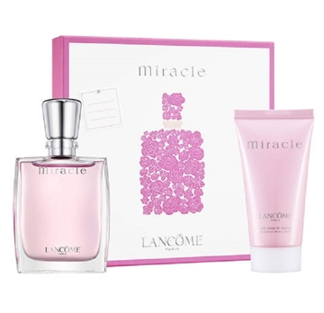 Lancome Miracle Women Giftset 80ml EDP Spray 30ml/Body Lotion 50ml