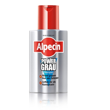 Alpecin Power Grau Shampoo For Hair Highlighting Greys 200ml