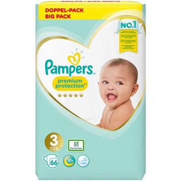 Pampers diapers Premium Prot. Gr. 3 6-10kg 66's