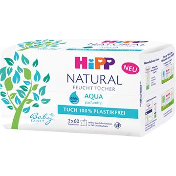 Hipp Babysanft wet wipes NATURAL Aqua 2x60