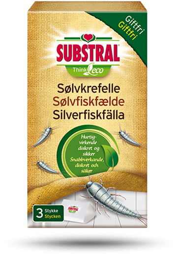 Substral Sølvfiskfælde 3 stk Think ECO