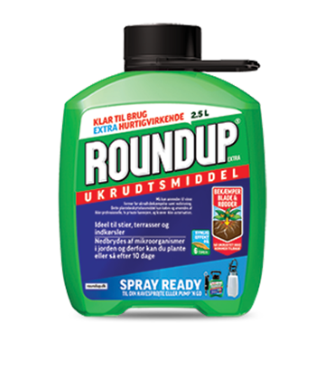 Roundup Extra Hurtigvirkende 2,5 liter Spray Ready/Refill