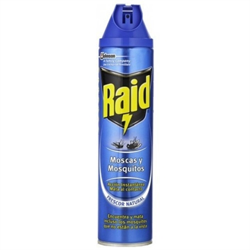 Raid Spray Insecticide 600g Flies And Mosquitoes Natural Fresh