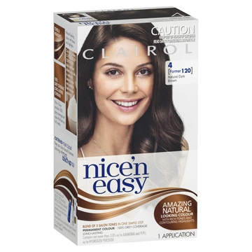 CLAIROL NICE N EASY HAIR DYE NATURAL DARK BROWN 120