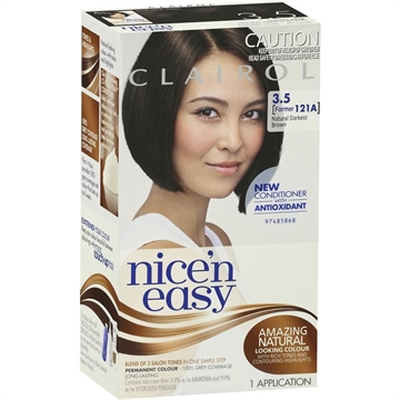 CLAIROL NICE N EASY NATURAL DARKEST BROWN 3.5
