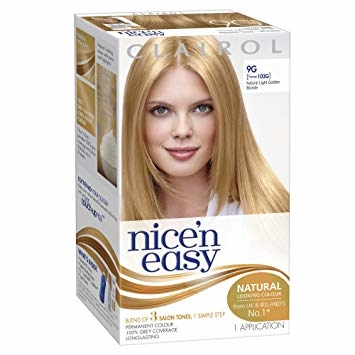 CLAIROL NICE N EASY NATURAL LIGHT GOLDEN BLONDE 9G