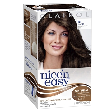 CLAIROL NICE N EASY RICH MEDIUM NEUTRAL BROWN R5