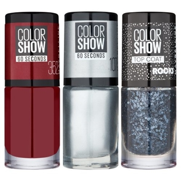 Maybelline Maybelline Merry Little Mani Color Show Set Downtown Red, Water and Black