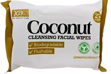 XBC Coconut Biodegradable Face Wipes 2X25S