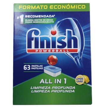 Finish Dishwasher Powerball 63' All In One Lemon