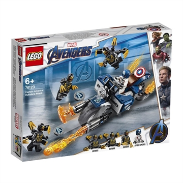 LEGO SUPER HEROES MARVEL AVENGERS CAPTAIN AMERICA: OUTRIDER-ANGREB 76123