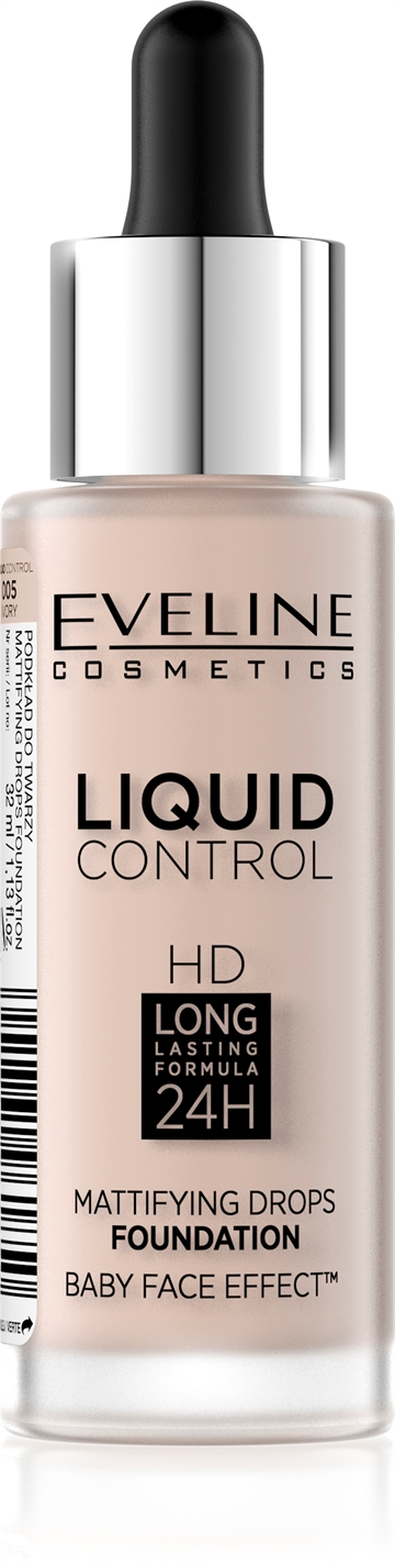 Eveline Liquid Control Foundation With Dropper 005 Ivory 32ml