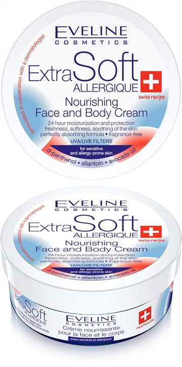 Eveline Soft Nourishing Face And Body Cream For Sensitive Skin 200 ml