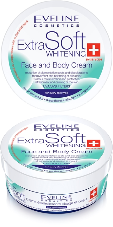 Eveline Soft Whitenning Face And Body Care Cream 200 ml
